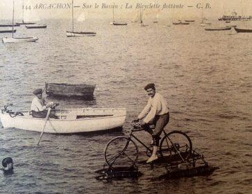 bassin temps pape mame velo sur l eau