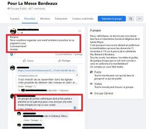 FB pour la messe bordeaux encadre
