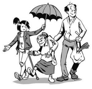 sic mandat protection parapluie mamie