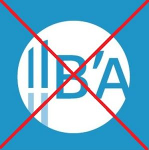 ancien logo b'A bassin arcachon barré rouge