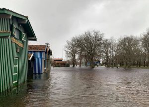 inondations port de biganos cabanes