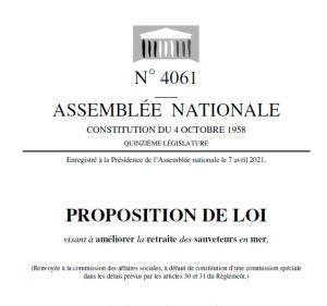 SNSM projet loi retraite