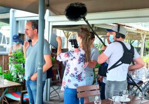 rouge bassin tournage mimbeau lionel abelanski