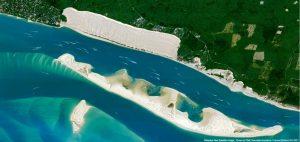dune pilat vue du ciel par airbus