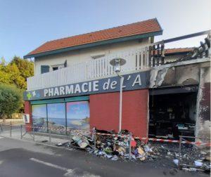 incendie pharmacie arès