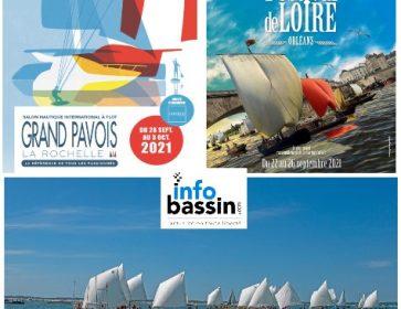 Histoires de bateaux : Régate estivale de pinasses à voile sur le Bassin, Salon nautique de La Rochelle et Festival à...